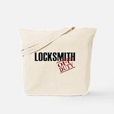 Off Duty Locksmith Tote Bag