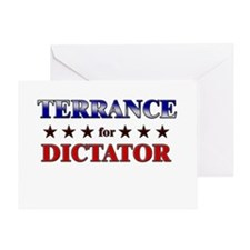TERRANCE for dictator Greeting Card