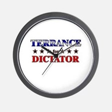 TERRANCE for dictator Wall Clock