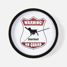 Boerboel On Guard Wall Clock