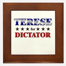 TERESE for dictator Framed Tile