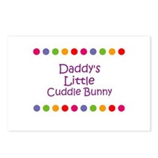 Daddy's Little Cuddle Bunny Postcards (Package of