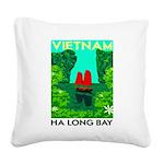 Ha Long Bay - Vietnam Print Square Canvas Pillow