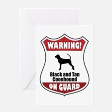 Black and Tan On Guard Greeting Card