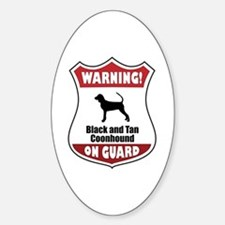 Black and Tan On Guard Oval Decal
