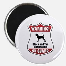 Black and Tan On Guard Magnet