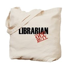 Off Duty Librarian Tote Bag