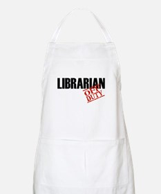 Off Duty Librarian BBQ Apron