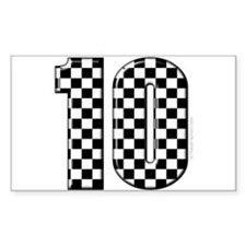 race car number 10 Rectangle Decal