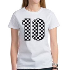 race car number 10 Tee