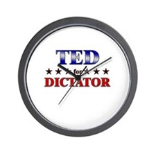 TED for dictator Wall Clock