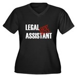 Off Duty Legal Assistant Women's Plus Size V-Neck