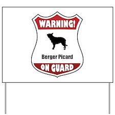 Berger On Guard Yard Sign