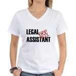 Off Duty Legal Assistant Women's V-Neck T-Shirt