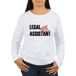 Off Duty Legal Assistant Women's Long Sleeve T-Shi
