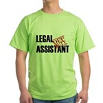 Off Duty Legal Assistant Green T-Shirt