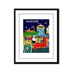 Saigon Travel and Tourism Print Framed Panel Print