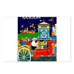 Saigon Travel and Tourism Print Postcards (Package