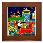 Saigon Travel and Tourism Print Framed Tile