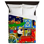 Saigon Travel and Tourism Print Queen Duvet