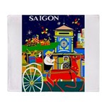 Saigon Travel and Tourism Print Throw Blanket