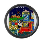 Saigon Travel and Tourism Print Large Wall Clock