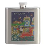 Saigon Travel and Tourism Print Flask