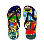 Saigon Travel and Tourism Print Flip Flops