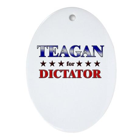 TEAGAN for dictator Oval Ornament