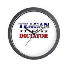 TEAGAN for dictator Wall Clock