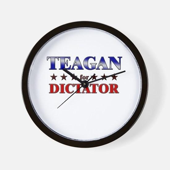 TEAGAN for dictator Wall Clock