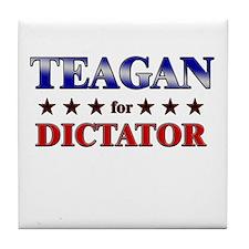 TEAGAN for dictator Tile Coaster