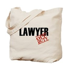 Off Duty Lawyer Tote Bag