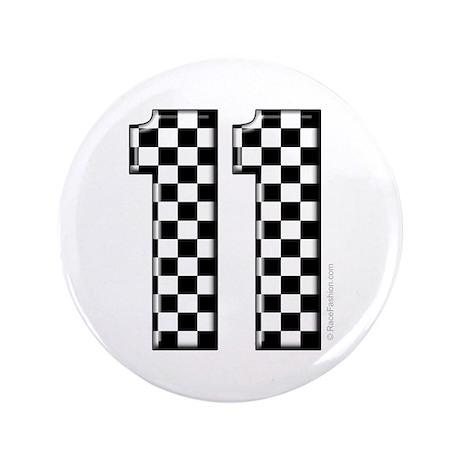 "race car number 11 3.5"" Button"