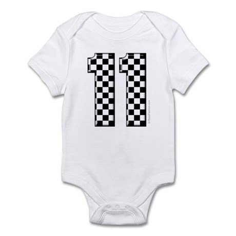 race car number 11 Infant Bodysuit