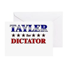 TAYLER for dictator Greeting Card