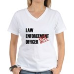 Off Duty Law Enf. Off. Women's V-Neck T-Shirt