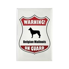 Malinois On Guard Rectangle Magnet