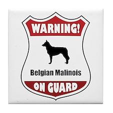 Malinois On Guard Tile Coaster