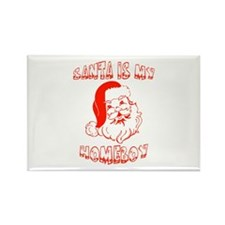 Santa Is My Homeboy Rectangle Magnet