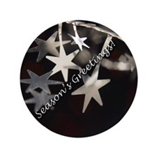 "Season's Greetings - Stars 3.5"" Button (100 pack)"