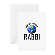 World's Greatest RABBI Greeting Cards (Pk of 10)