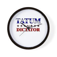 TATUM for dictator Wall Clock