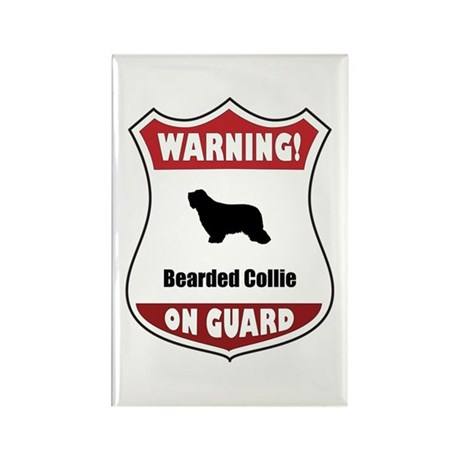 Collie On Guard Rectangle Magnet (100 pack)