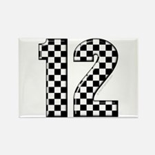 racing number 12 Rectangle Magnet