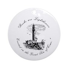 Books are Lighthouses<br> Keepsake (Round)