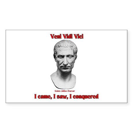 Vini Vidi Vici I Came I Saw I Conquered Sticker (R
