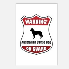 Cattle Dog On Guard Postcards (Package of 8)