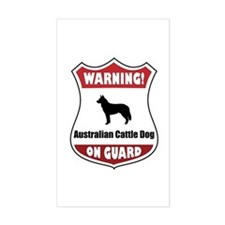 Cattle Dog On Guard Rectangle Decal