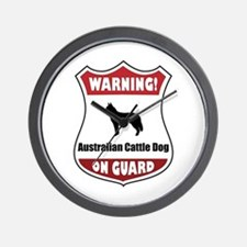 Cattle Dog On Guard Wall Clock